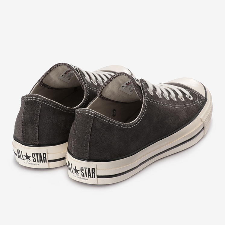 SUEDE ALL STAR US OX(スエード オールスター US OX)黒/グレー・スニーカー