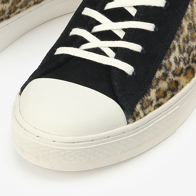 ALL STAR COUPE LEOPARDFUR OX(オールスター クップ レパードファー OX)茶色/ブラウン・通勤