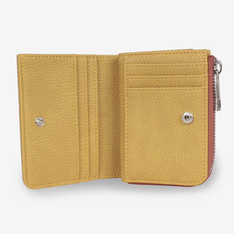 Lカーブ フェイクレザー ウォレット(L CURVE  FAKE LEATHER WALLET)