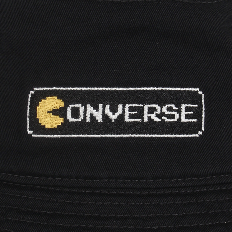 CONVERSExPAC-MAN TWILL BUCKET HAT(CONVERSExPAC-MAN バケット ハット)パックマン 帽子 黒