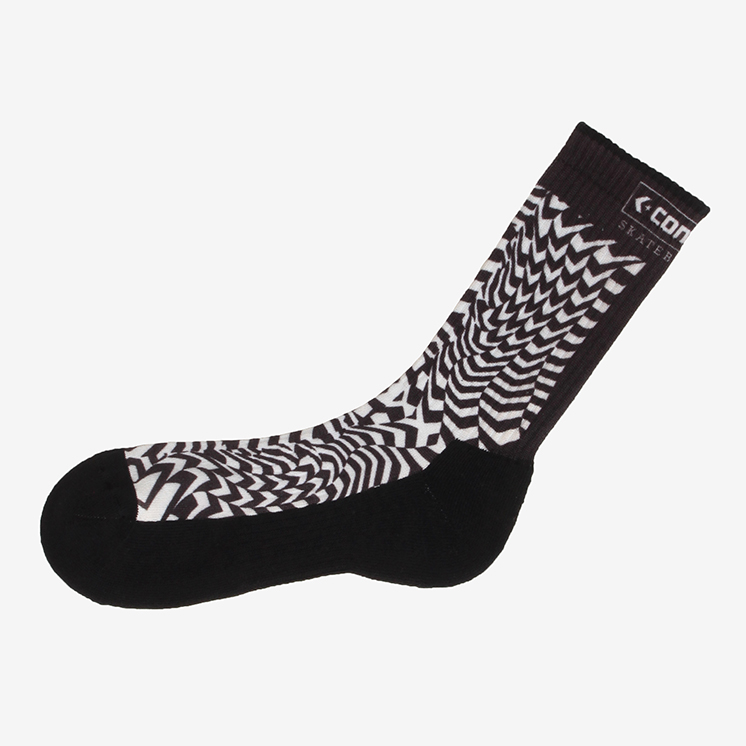 CHEVRON PATTERN SOCKS(CHEVRON PATTERN ソックス)黒・スケボー,靴下