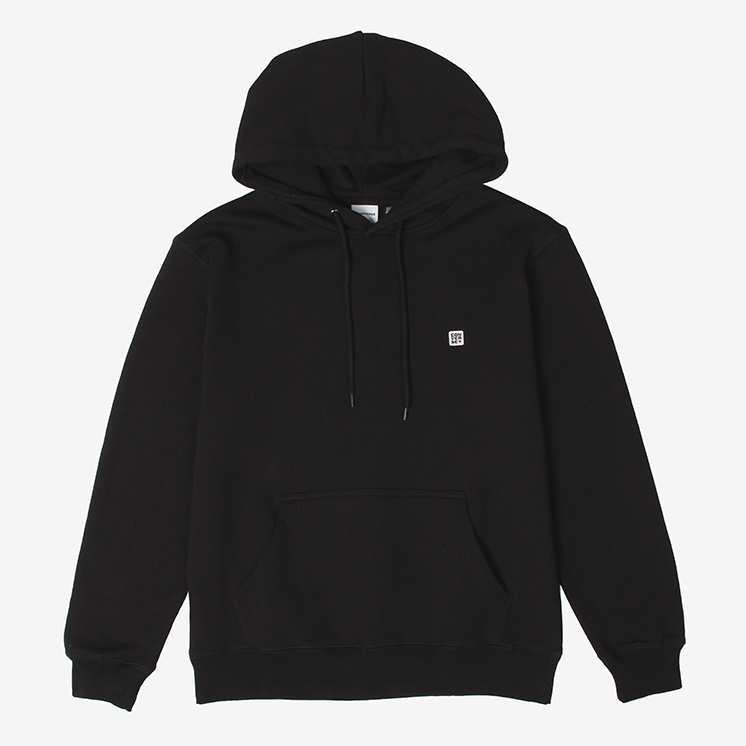 U.S.A Cotton ワッペン パーカー(U.S.A Cotton Cotton Wappen Hooded Sweat)黒