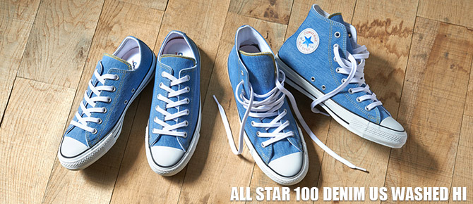 ALL STAR 100 DENIM US WASHED HI